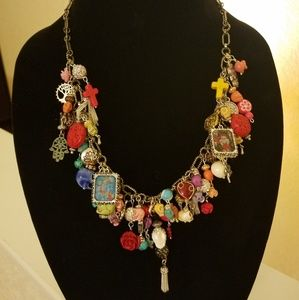One of a kind Day of the Dead necklace